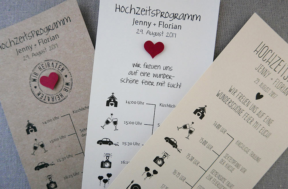 Hochzeitsprogramm Zeitplan Fur Ihre Hochzeitsgaste