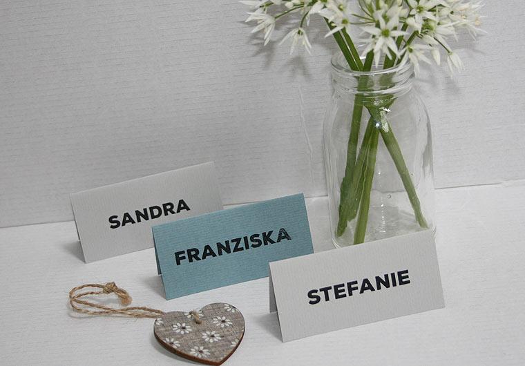 Platzkarten Hochzeit - PURIST von Aylando Hochzeitskarten