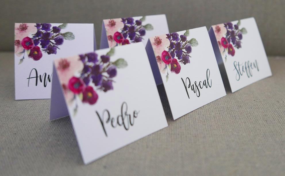Platzkarte Annabell Vintage Romantic Floral