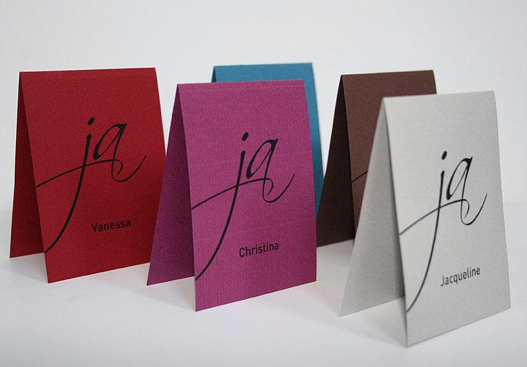 Platzkarte Hochzeit Serie JA! von Aylando Hochzeitskarten