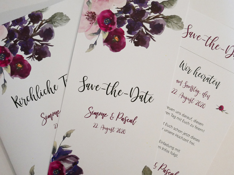 Save-the-Date-Karte Annabell Vintage Romantic Floral