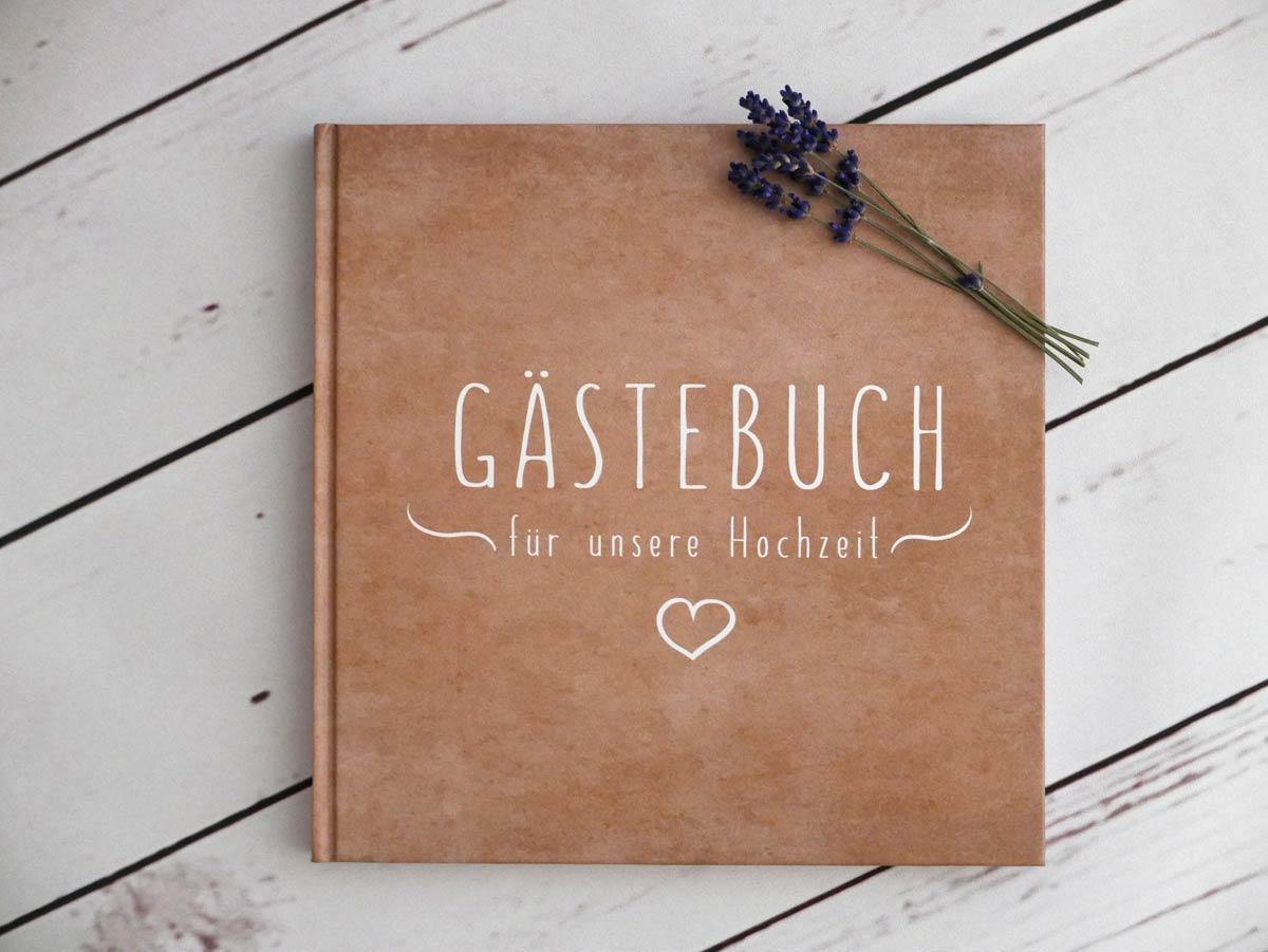 Gästebuch zur Hochzeit im Kraftpapierlook