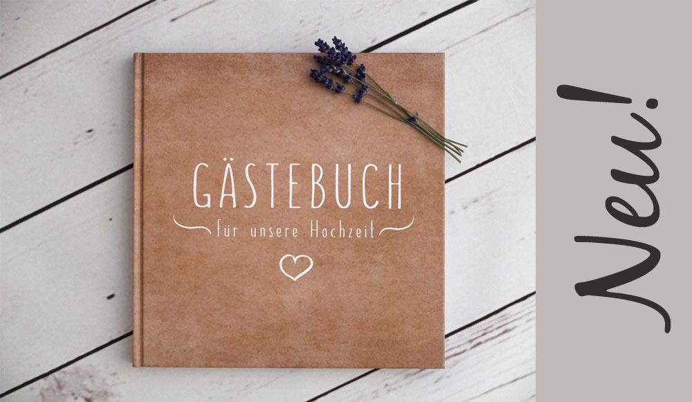 Neu bei uns! Gästebuch im Kraftpapier-Look :-)
