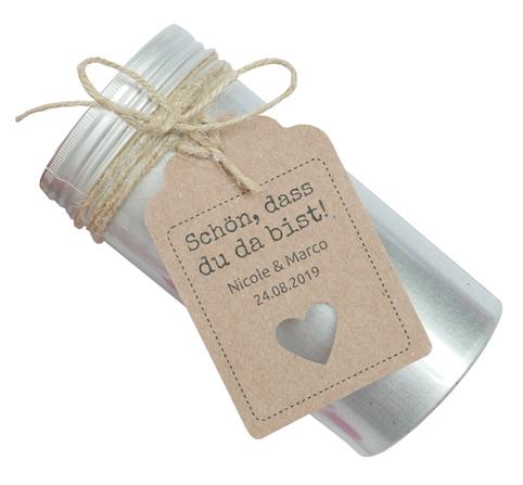 Süße Geschenkanhänger für Gastgeschenke