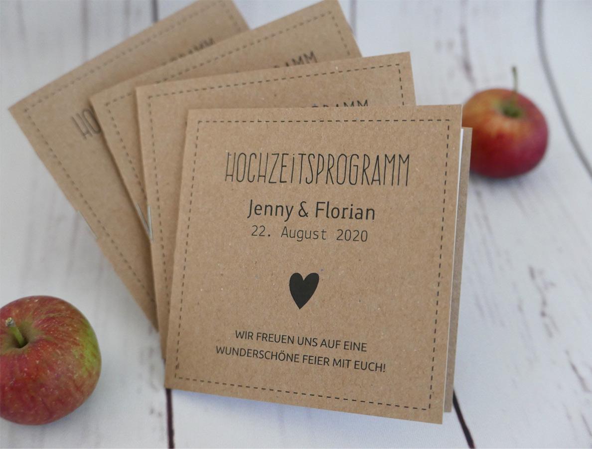 Hochzeitsprogramm HEAVN POCKET