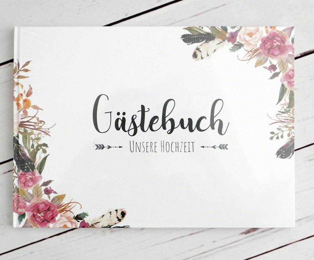 Gästebuch Vintage Stil im Floralen Look