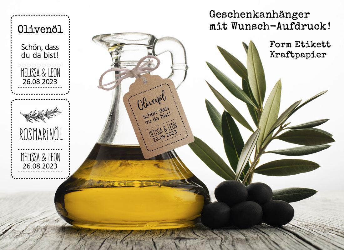 Olivenöl Geschenkanhänger Kraftpapier