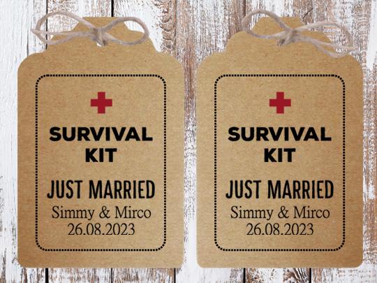 Anhänger Survival Kit für die Notfallbox als Anhänger groß und mittel möglich