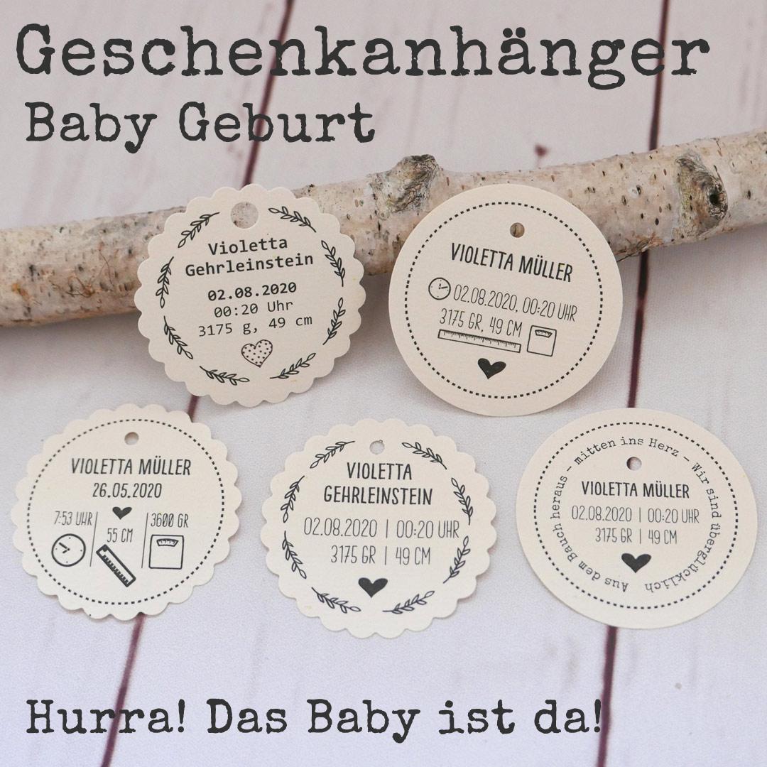 Geschenkanhänger-Baby-Geburt